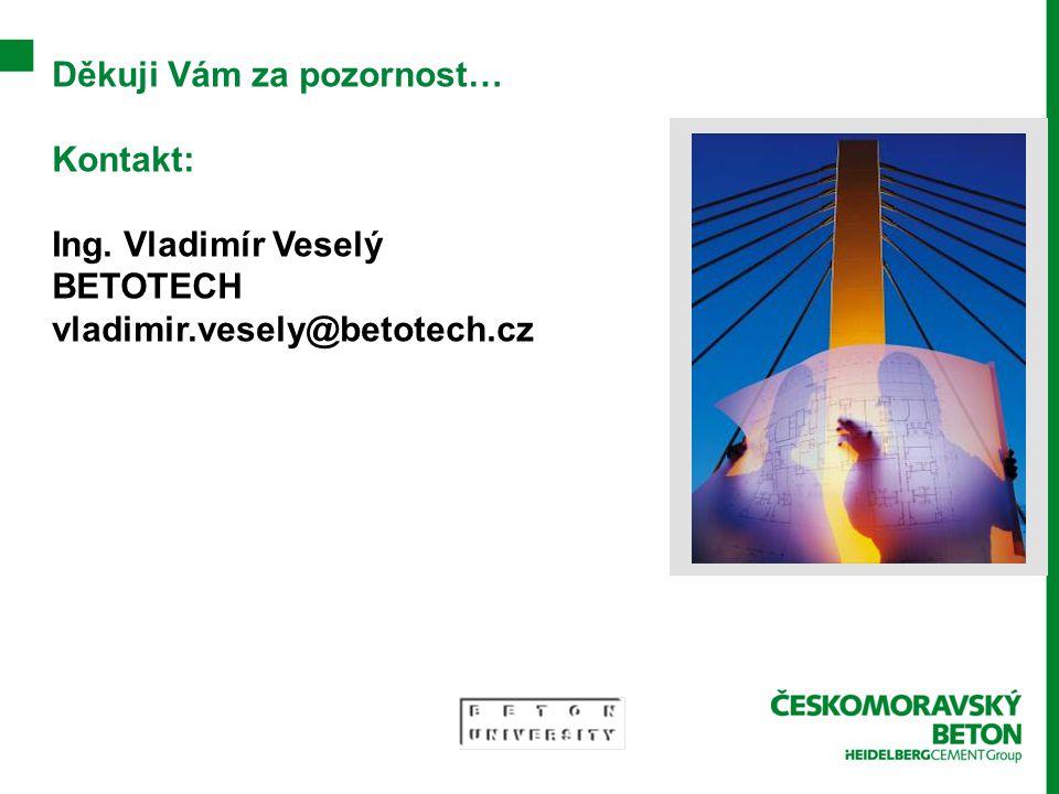 Děkuji Vám za pozornost… Kontakt: Ing. Vladimír Veselý BETOTECH vladimir.vesely@betotech.cz