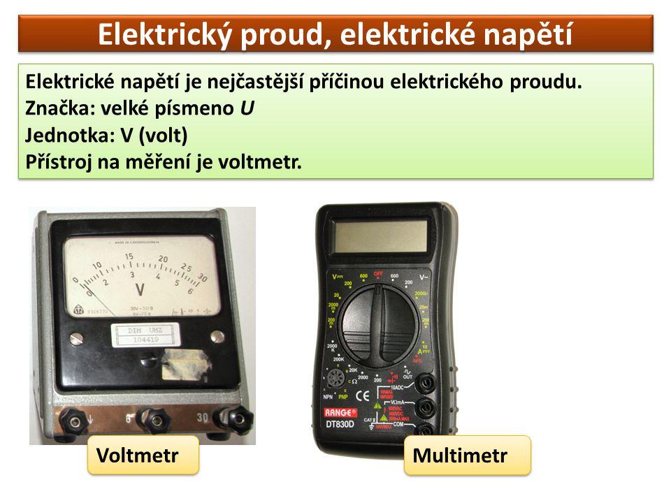 Otázky a úkoly  Co je nejčastější příčinou elektrického proudu.
