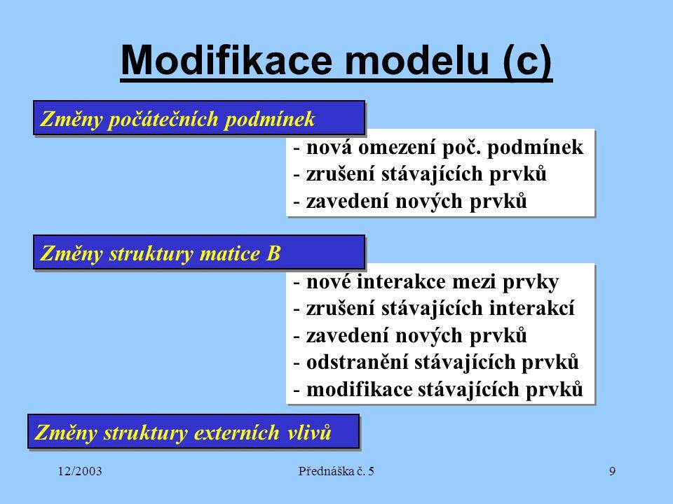 12/2003Přednáška č.