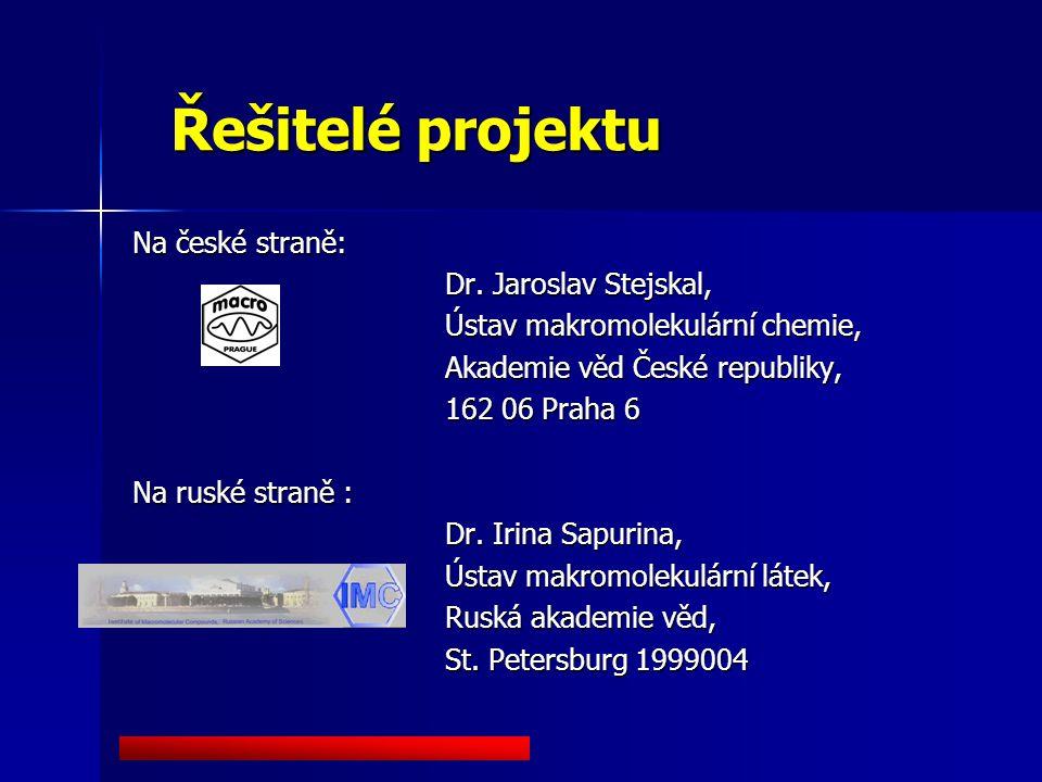 Řešitelé projektu Na české straně: Dr.