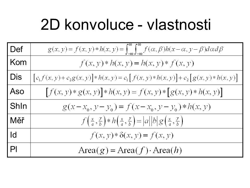 2D konvoluce - vlastnosti Def Kom Dis Aso ShIn Měř Id Pl