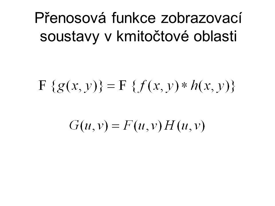Přenosová funkce zobrazovací soustavy v kmitočtové oblasti