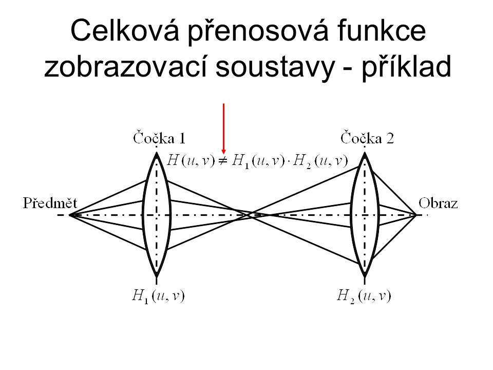 Celková přenosová funkce zobrazovací soustavy - příklad