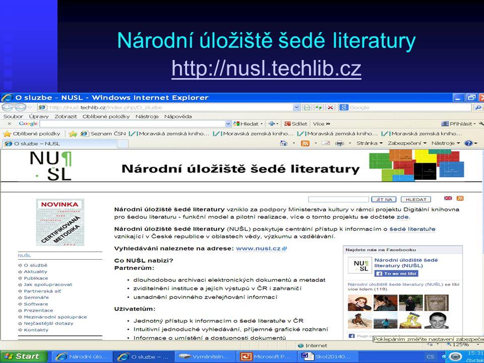 Národní úložiště šedé literatury http://nusl.techlib.cz http://nusl.techlib.cz