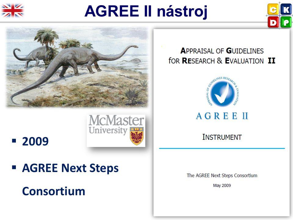 AGREE II nástroj  2009  AGREE Next Steps Consortium CK DP