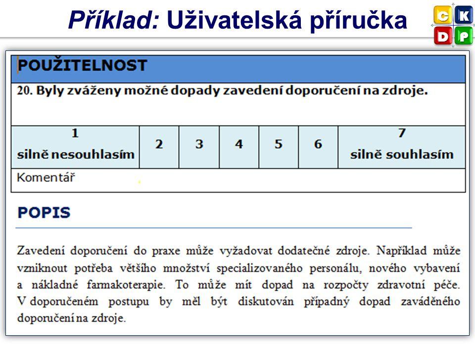 Příklad: Uživatelská příručka CK DP