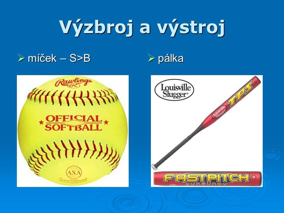 Výzbroj a výstroj  míček – S>B  pálka
