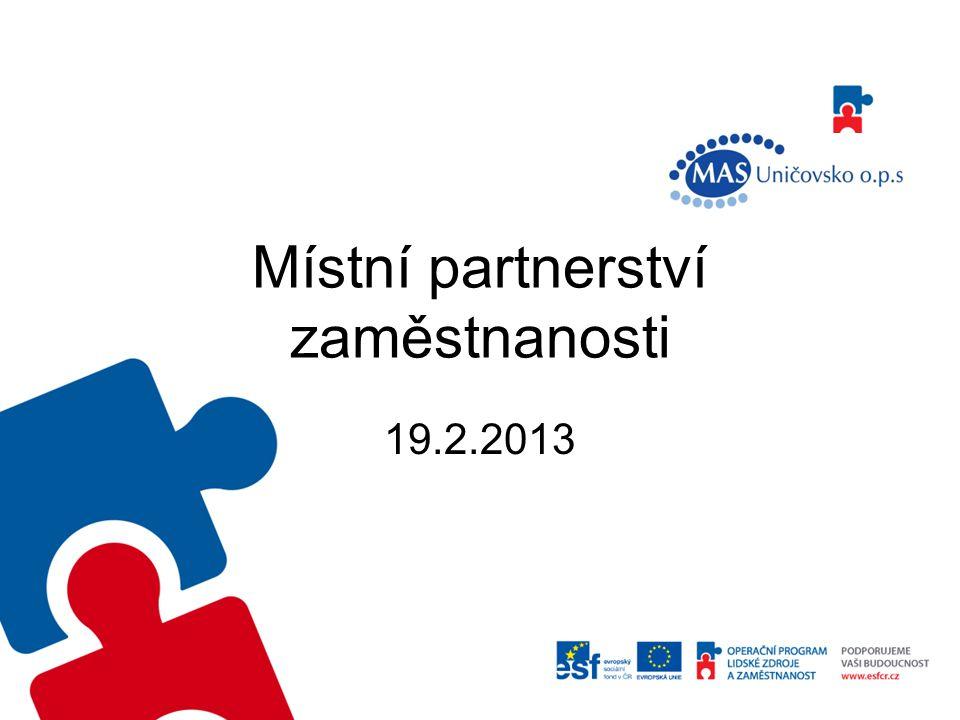 Místní partnerství zaměstnanosti 19.2.2013
