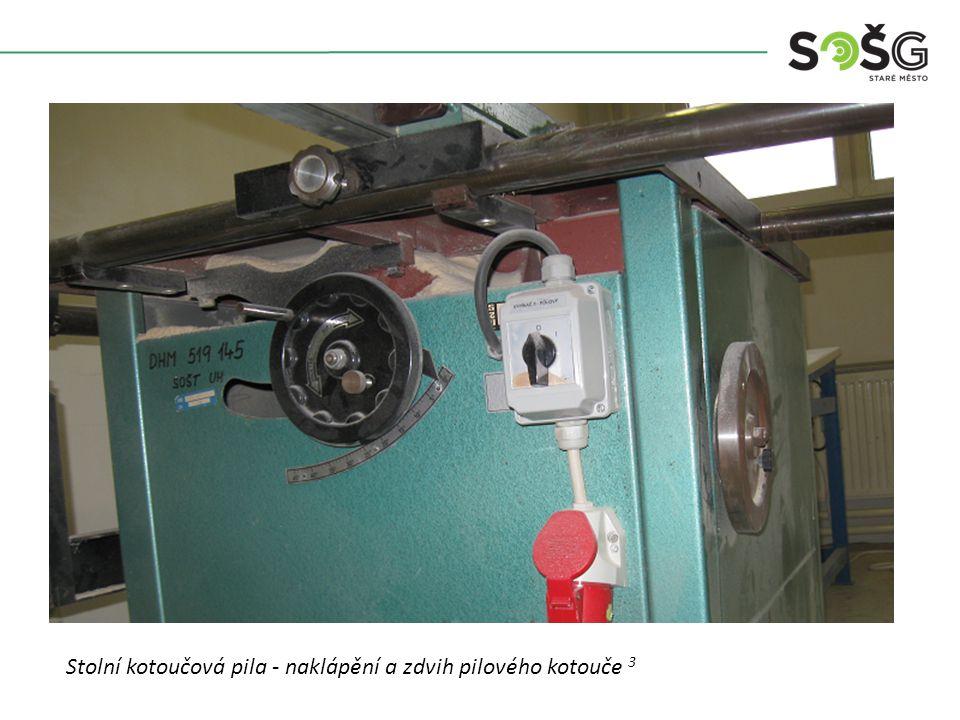 Vícekotoučová rozřezávací pila PWR 201 TOS Svitavy - detail Stolní kotoučová pila - upevnění pilového kotouče 4