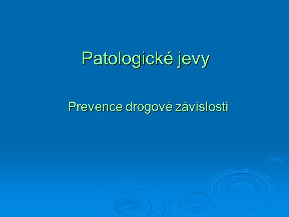 Patologické jevy Prevence drogové závislosti