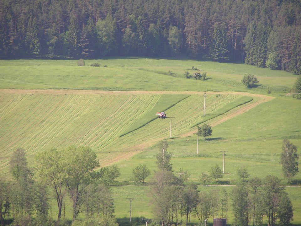 Přehled významných důsledků intenzivního pěstování rostlin (podle Aufhammera, 1989) Opatření –Použití těžké mechanizace –Intenzivní zpracování půdy –Vysoká spotřeba energie (většinou fosilních zdrojů) Důsledky (účinky) –porušení vzdušného a vodního režimu půdy –omezení prokořenění půdy –ničení biologické aktivity půdy –poškození vsakovací schopnosti půdy –zvýšení eroze půdy –omezení tvorby optimální půdní struktury –zvýšení eroze –odbourání humusu –spotřeba neobnov.
