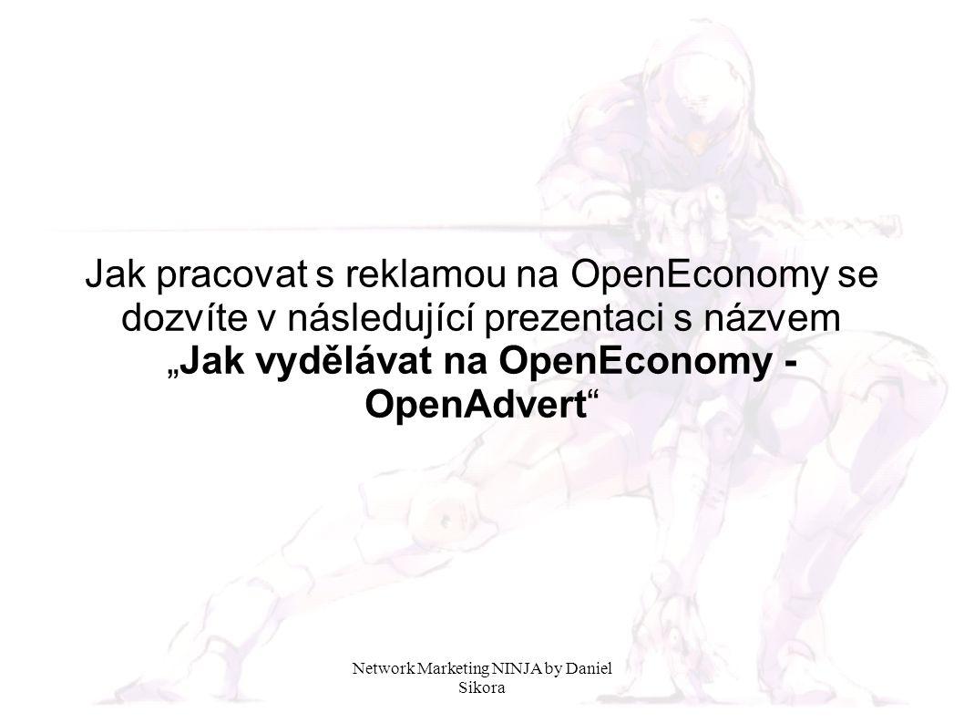 """Jak pracovat s reklamou na OpenEconomy se dozvíte v následující prezentaci s názvem """"Jak vydělávat na OpenEconomy - OpenAdvert"""