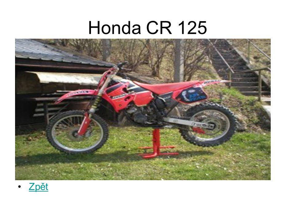 Honda CR 125 Zpět