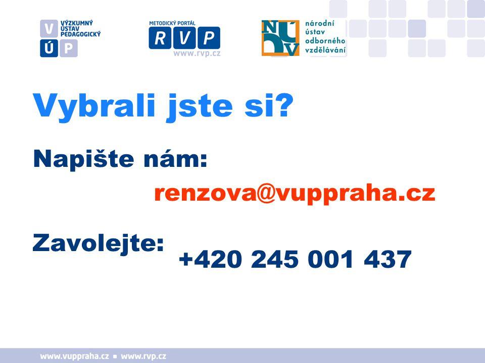 Vybrali jste si Napište nám: renzova@vuppraha.cz Zavolejte: +420 245 001 437