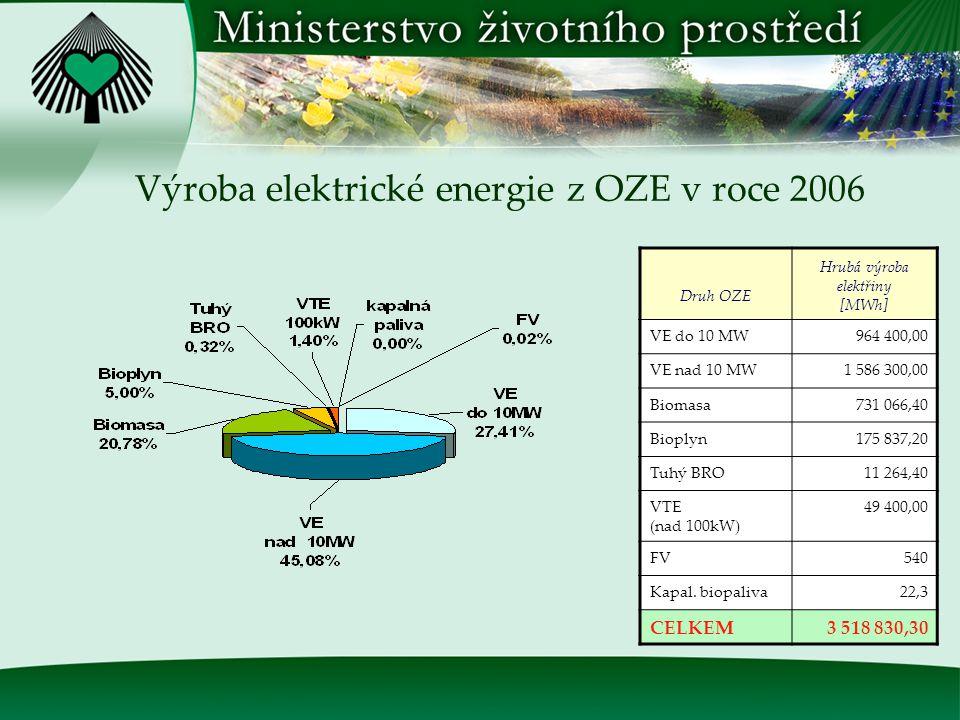 Vývoj podílu spotřeby elektrické energie z OZE