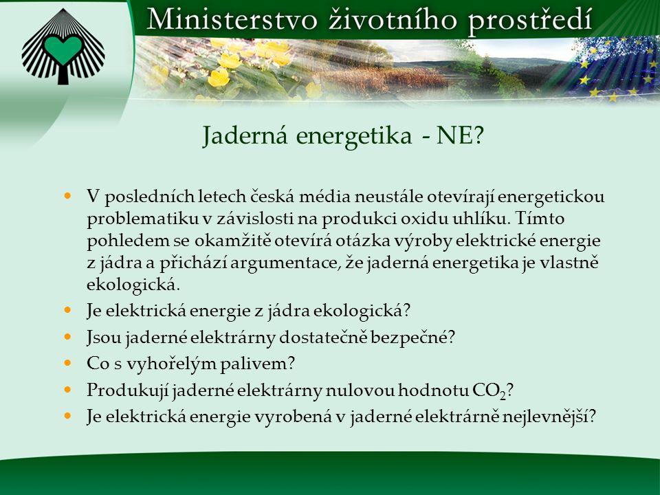 Dobrovolné dohody v politice životního prostředí ANO.