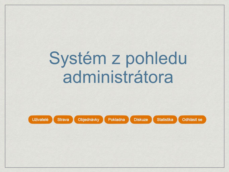 Systém z pohledu administrátora
