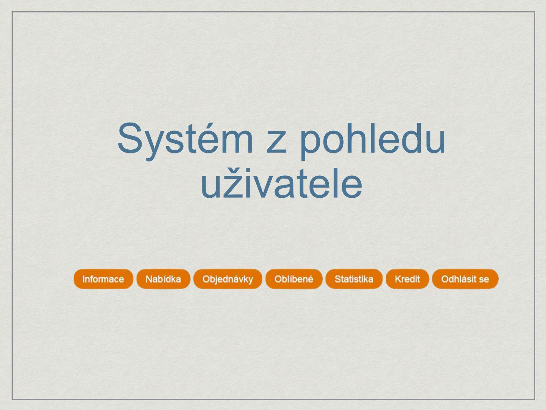 Systém z pohledu uživatele