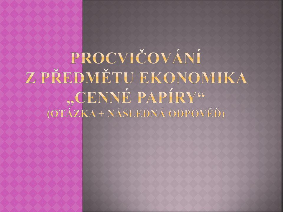 Výukový materiál zpracován v rámci projektu EU peníze školám Registrační číslo projektuCZ.