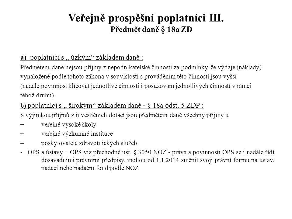§ 19b – osvobození bezúplatných příjmů II.§ 19b odst.