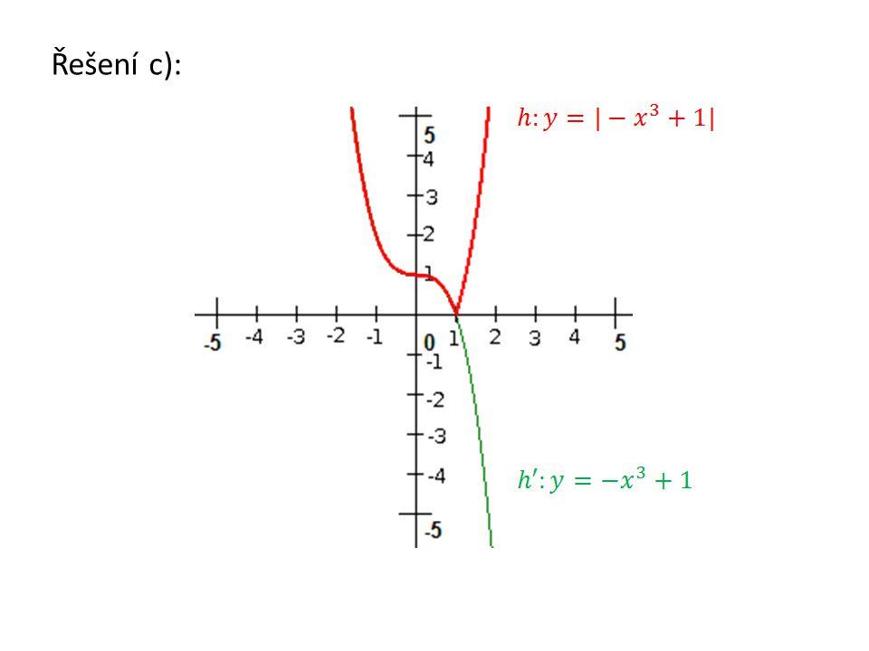 Řešení c):