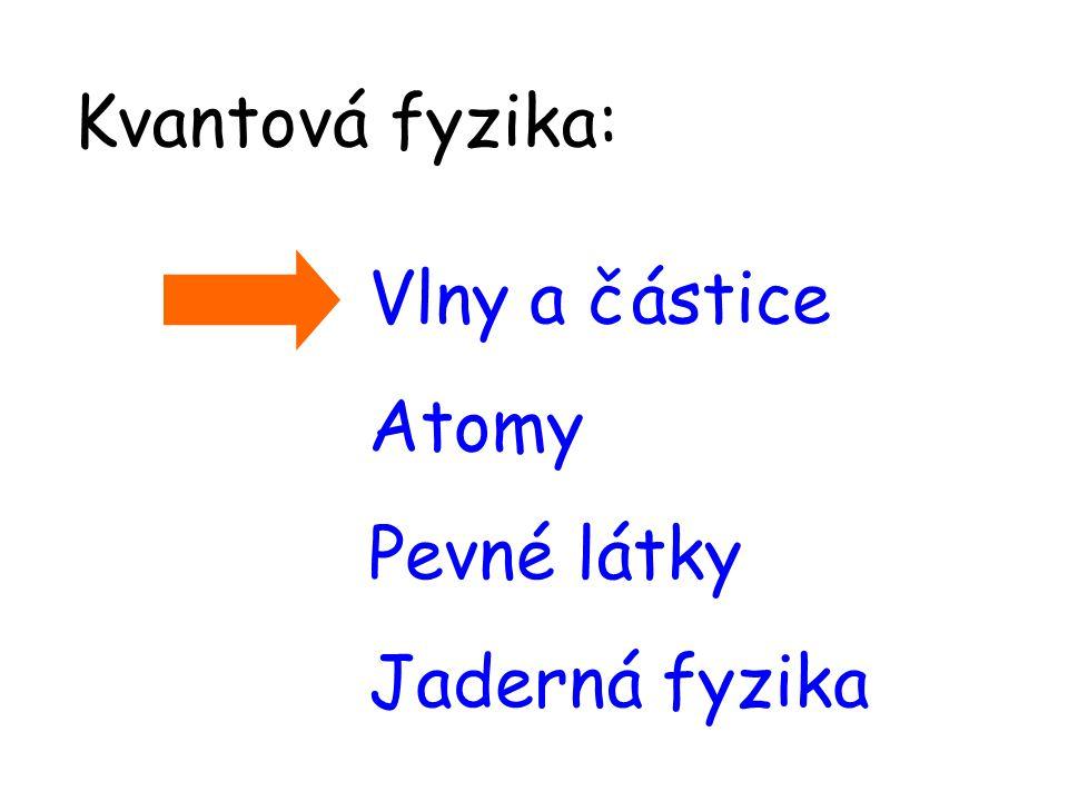 Vlny a částice Atomy Pevné látky Jaderná fyzika Kvantová fyzika: