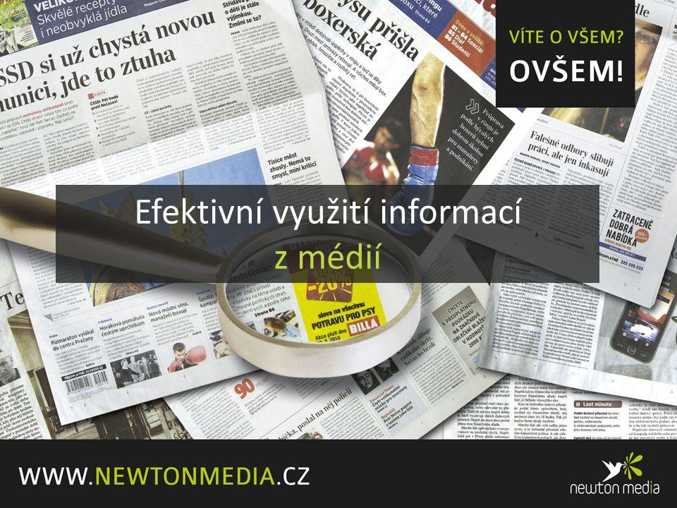 Efektivní využití informací z médií
