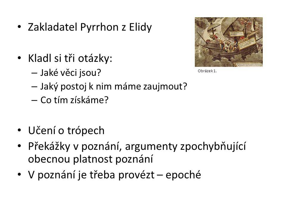 Zakladatel Pyrrhon z Elidy Kladl si tři otázky: – Jaké věci jsou.
