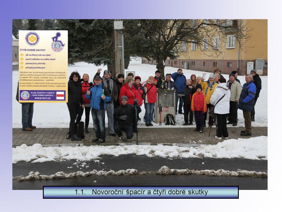 Kam si vyšlápli turisté z Nepomuku Leden 2015 PF 2015