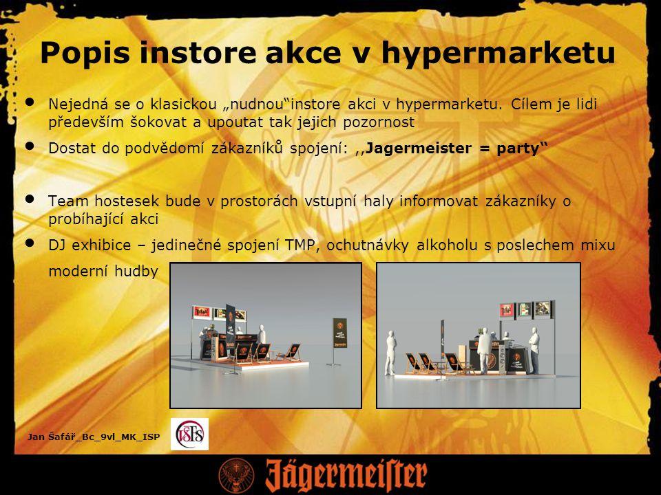 """Jan Šafář_Bc_9vl_MK_ISP Popis instore akce v hypermarketu Nejedná se o klasickou """"nudnou instore akci v hypermarketu."""