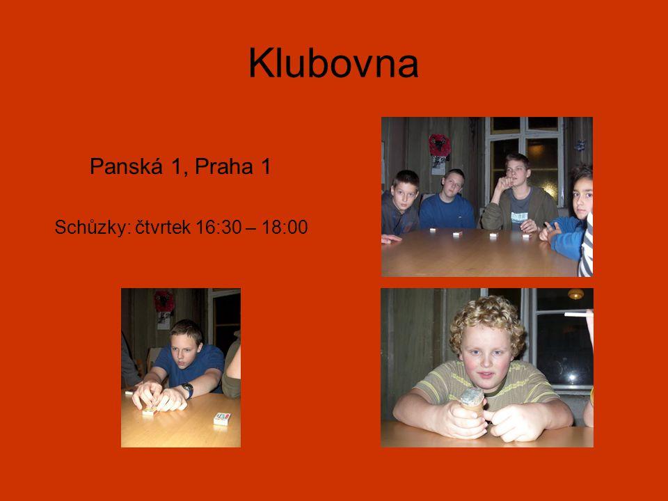 Klubovna Panská 1, Praha 1 Schůzky: čtvrtek 16:30 – 18:00