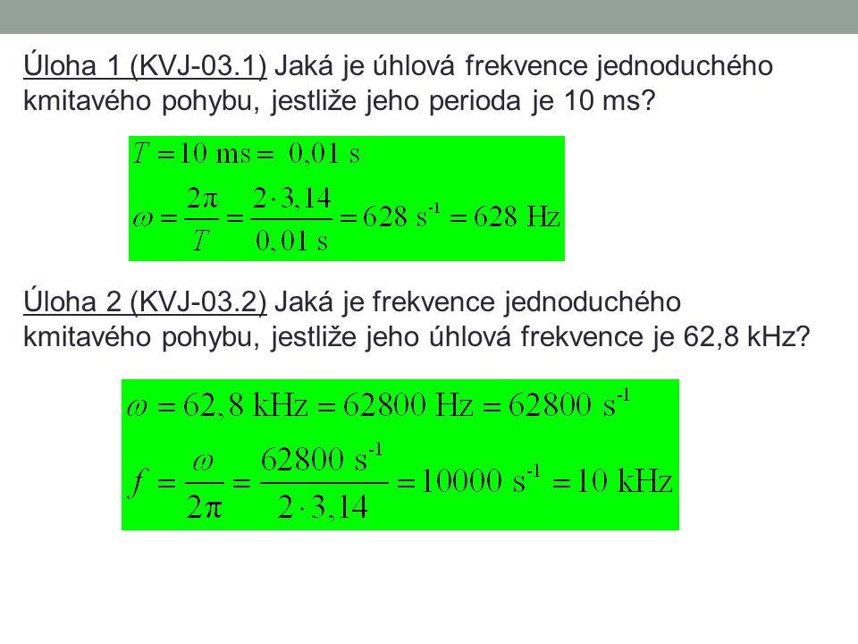 Napište vztah pro okamžitou výchylku y jednoduchého kmitavého pohybu (harmonického pohybu) s amplitudou r, která je dána harmonickou funkcí času t: (m