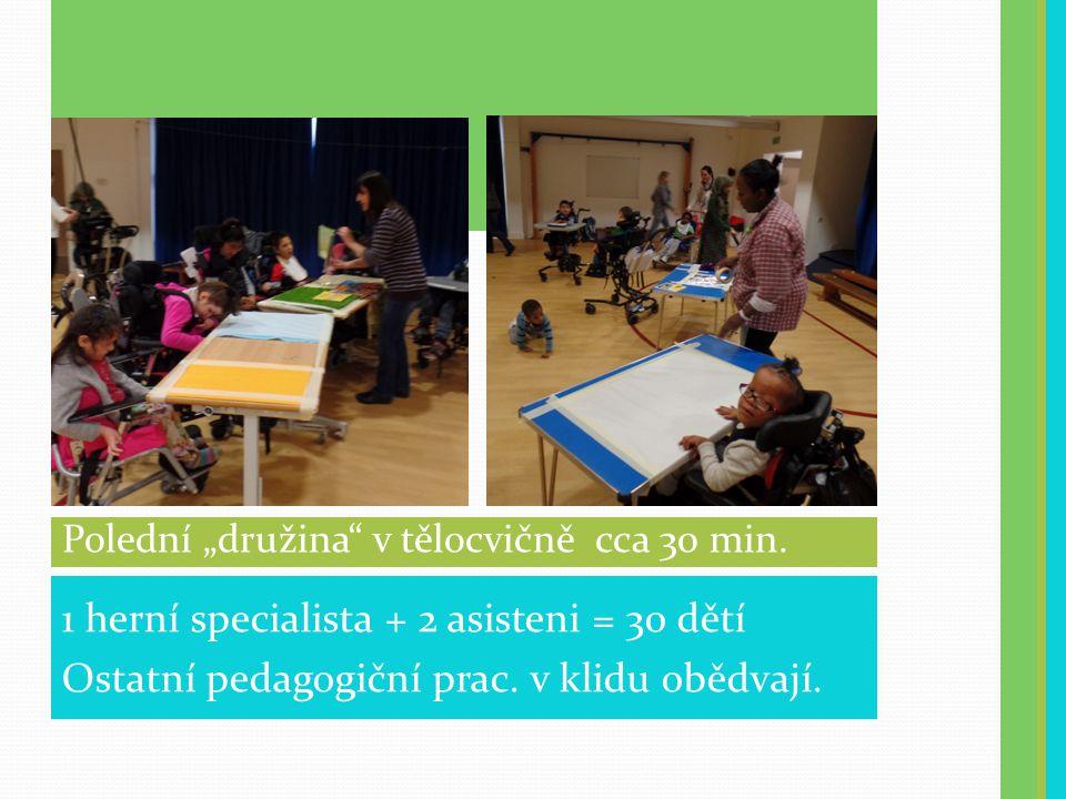 1 herní specialista + 2 asisteni = 30 dětí Ostatní pedagogiční prac.