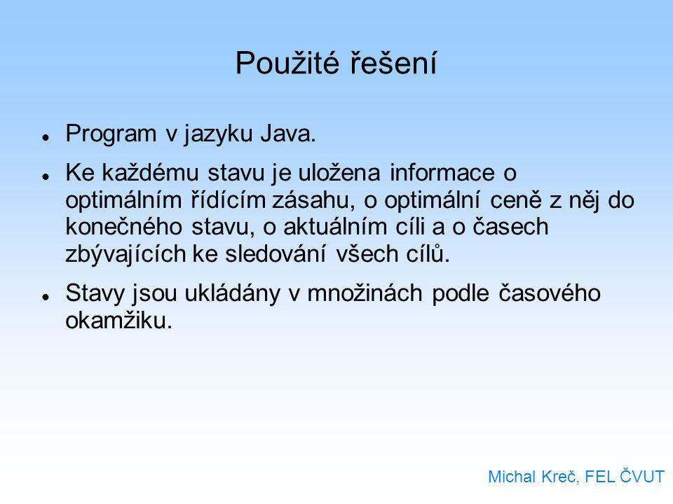 Použité řešení Program v jazyku Java.