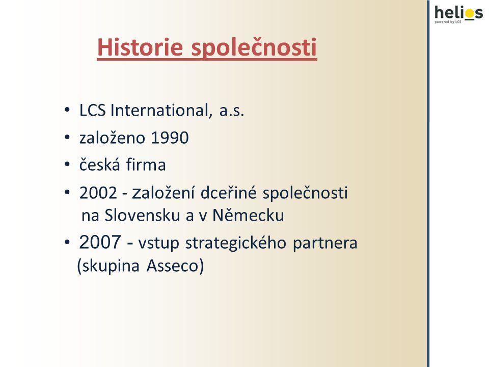Historie společnosti LCS International, a.s.