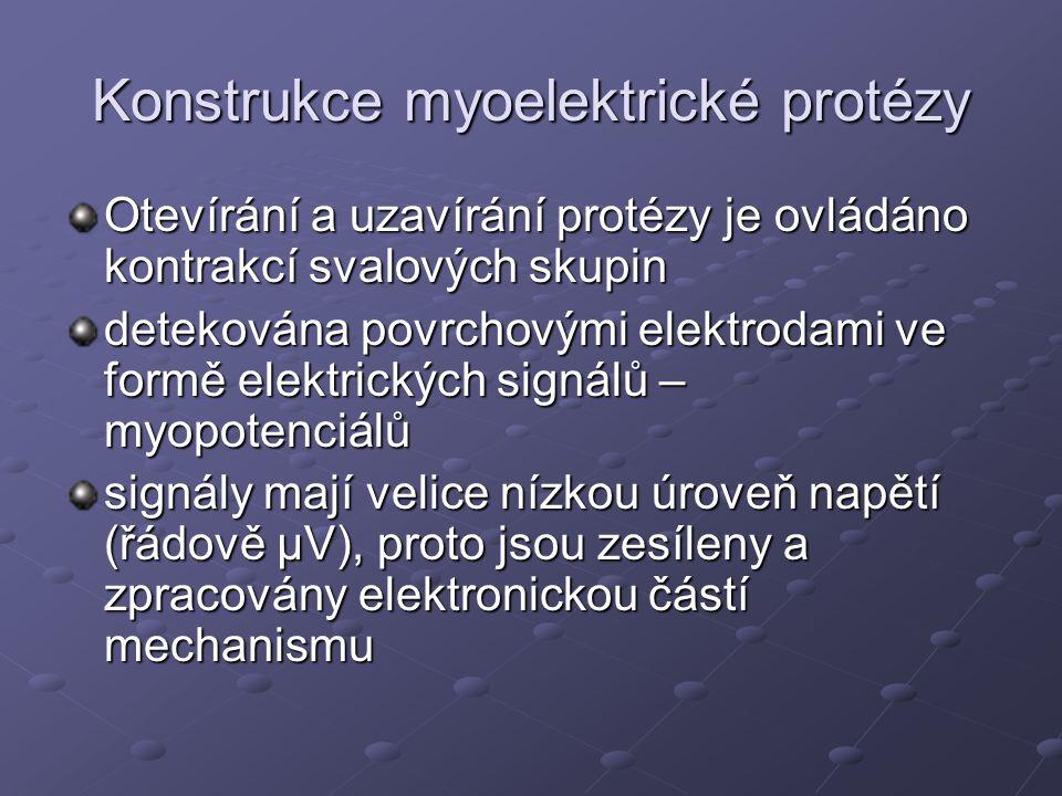 Konstrukce myoelektrické protézy
