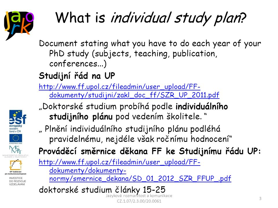 What is individual study plan.