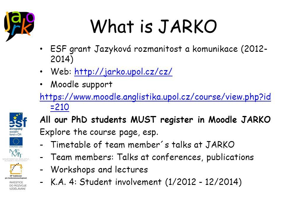 Summer schools and conferences for young linguists in the Czech Republic Letní škola lingvistiky http://lingvistika.cz/http://lingvistika.cz/ Studentský workshop Žďárek http://ucjtk.ff.cuni.cz/zdarek http://ucjtk.ff.cuni.cz/zdarek Mezinárodní setkání mladých lingvistů (Olomouc) http://www.mladi-lingviste.tode.cz/ 19.4.2015 Jazyková rozmanitost a komunikace CZ.1.07/2.3.00/20.0061 17