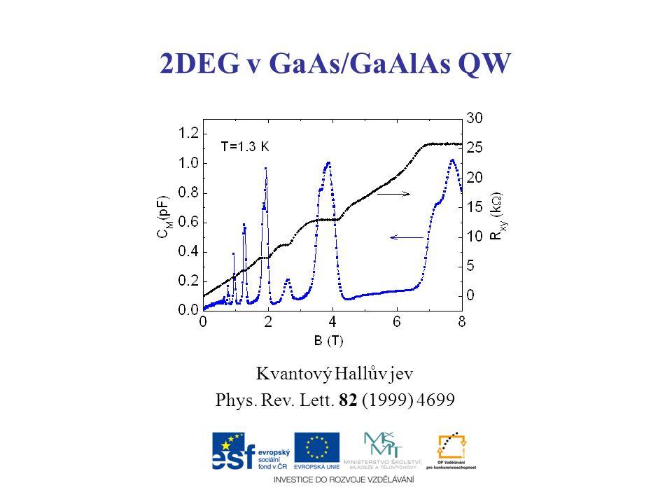 2DEG v GaAs/GaAlAs QW Kvantový Hallův jev Phys. Rev. Lett. 82 (1999) 4699