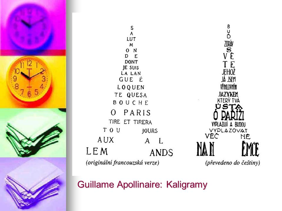 Guillame Apollinaire: Kaligramy