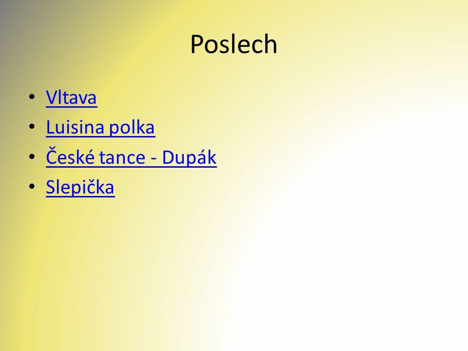 Poslech Vltava Luisina polka České tance - Dupák Slepička