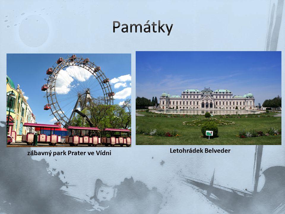 zábavný park Prater ve Vídni Letohrádek Belveder
