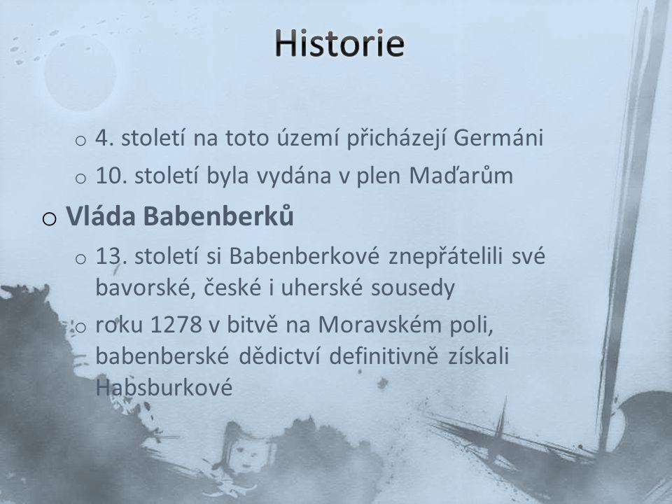o Habsburská monarchie o Po smrti Rudolfa IV.
