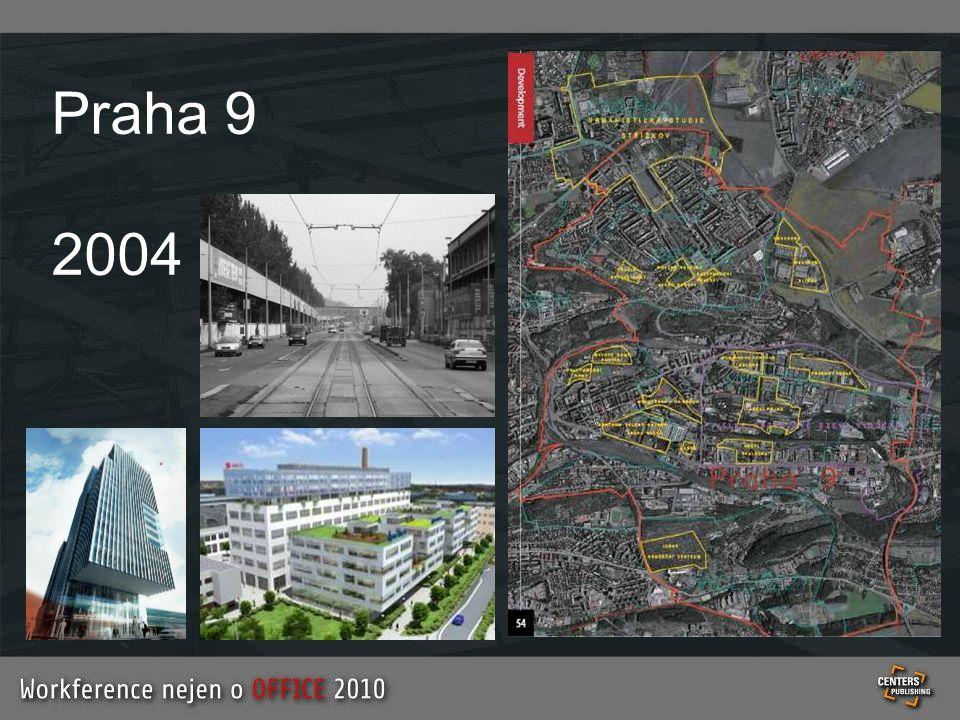 Mapa plánovaných kancelářských budov v ČR byla k dispozici pouze během Workference