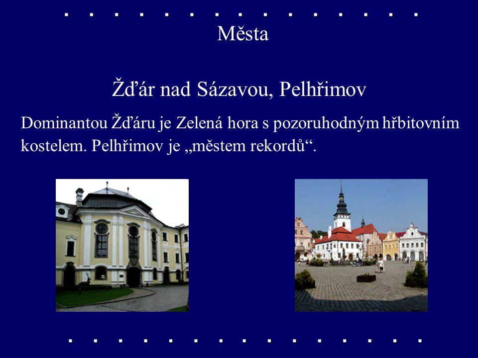 Města Telč, Třebíč Telč ležící mezi třemi rybníky má velké množství historických památek. Při řece Jihlavě najdeme město Třebíč.