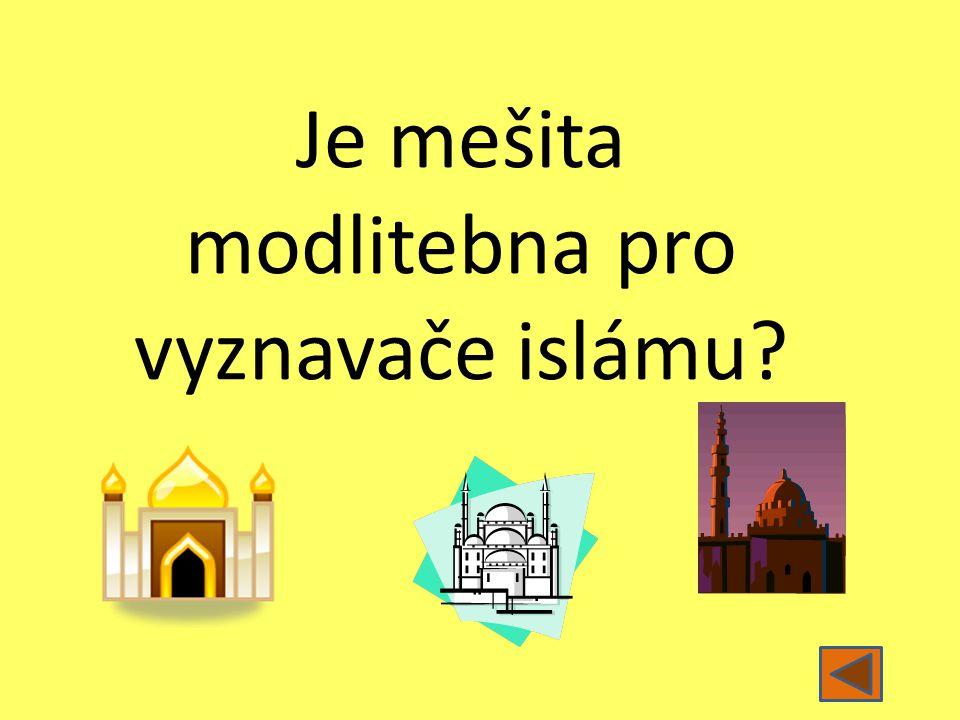 Je mešita modlitebna pro vyznavače islámu?