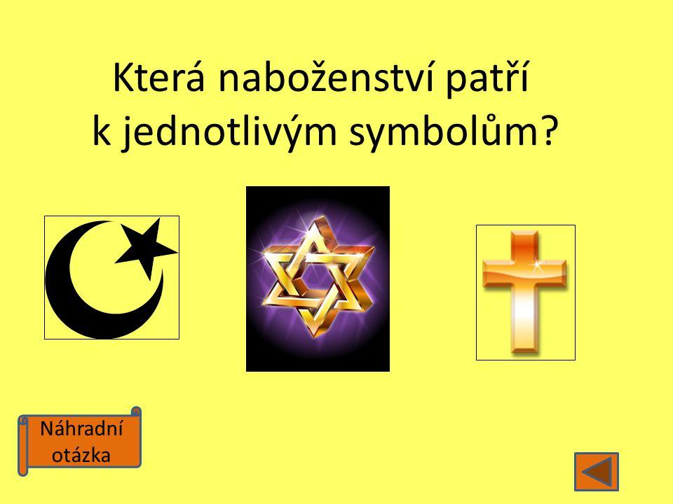 Náhradní otázka Která naboženství patří k jednotlivým symbolům?