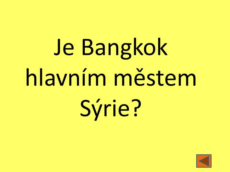 Je Bangkok hlavním městem Sýrie?