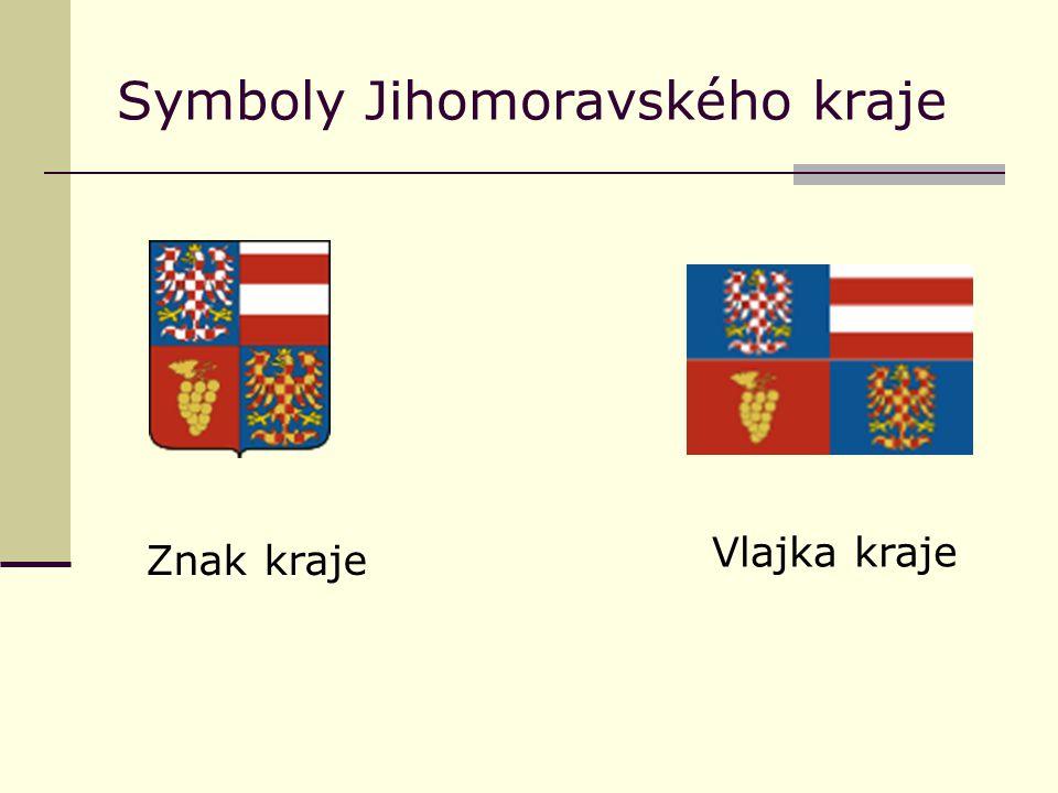 Symboly Jihomoravského kraje Znak kraje Vlajka kraje