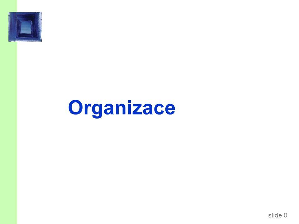 slide 0 Organizace